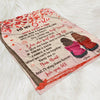 The One Who Stole My Heart - Personalized Custom Fleece Blanket