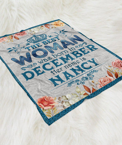 The Best Woman - Personalized Custom Fleece Blanket - Christmas Gifts