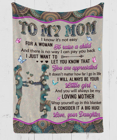 My Loving Mother - Premium Fleece Blanket - Gifts For Mother From Daughter