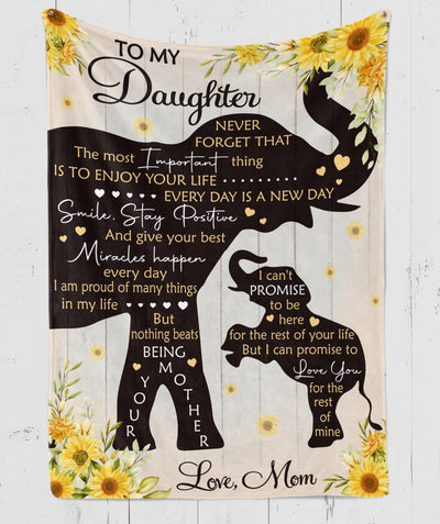 Enjoy Your Life - Premium Fleece Blanket - Gifts For Daughter