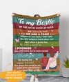 My Ride Or Die - Personalized Custom Fleece Blanket - Gifts For Best Friends