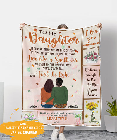 Find The Light - Personalized Custom Fleece Blanket