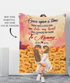 Once Upon A Time - Personalized Custom Fleece Blanket