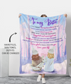 Always Been There - Personalized Custom Fleece Blanket - Gifts For Bestie