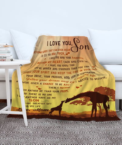 The great gift - Premium Fleece Blanket - Gifts For Son