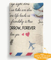 Our Friendship Is True - Personalized Custom Fleece Blanket