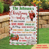 Christmas Rules - Personalized Custom Garden Flag