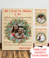 All I want for Christmas - Personalized custom photo canvas - Christmas gifts
