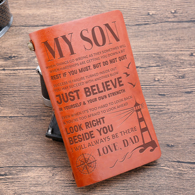 SON DAD - DO NOT QUIT - VINTAGE JOURNAL