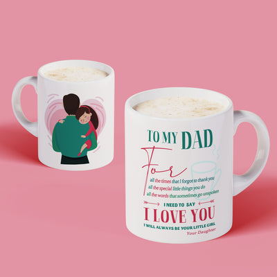 Dad Daughter - Thank You - Coffee Mug