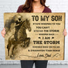 Son Dad - Withstand the storm - Home wall art decor