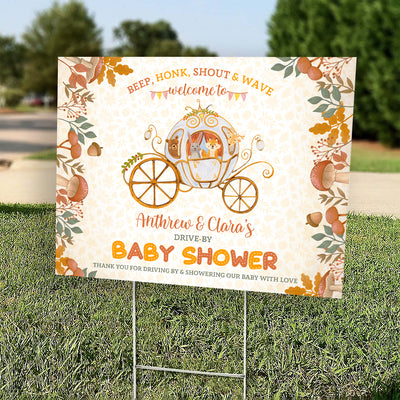 Drive-by Baby Shower - Personalized Custom Yard Sign - Baby Shower Yard Sign