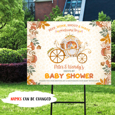 Personalized Custom Yard Sign - Drive-by Baby Shower - Autumn Theme
