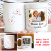 Long Distance Relationship - Personalized Custom Photo Coffee Mug