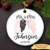Our First Christmas - Personalized Custom Ceramic Circle Ornament