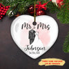 Our First Christmas - Personalized Custom Ceramic Heart Ornament