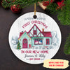 First Christmas In Our New Home - Personalized Ceramic Christmas Ornaments - 8666