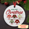 Sweater Family - Personalized Ceramic Christmas Ornaments