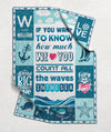 Count All The Waves In The Sea - Personalized Custom Fleece Blanket - Gifts For Baby Boy