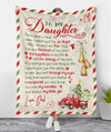 To My Daughter From Dad - My Angel - Fleece Blanket