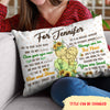 The World Awaits You - Personalized Custom Linen Pillow - Sentimental Gifts for Daughter