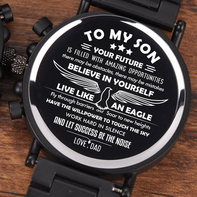 Son Dad - Live Like An Eagle - Wood Watch