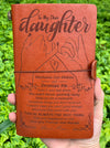 Daughter Mom - Promise Me - Vintage Journal