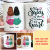 Sisters By Heart - Personalized Custom Coffee Mug