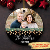 Family Photo - Personalized Ceramic Christmas Ornaments, Photo Christmas Ornaments