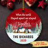 We stayed together - Personalized Ceramic Christmas Ornaments