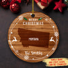 Merry Family Christmas - Personalized Ceramic Christmas Ornaments