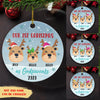 Our First Christmas as Godparents - Personalized Ceramic Christmas Ornaments