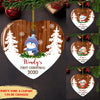 Baby's First Christmas (Baby Animal Ver.) - Personalized Ceramic Christmas Ornaments