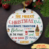 Family Christmas Rules - Personalized Ceramic Christmas Ornaments