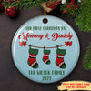 First Christmas as parents - Personalized Ceramic Christmas Ornaments