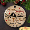 Our First Christmas Together - Personalized Ceramic Christmas Ornaments