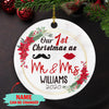 First Christmas As Mr And Mrs - Personalized Ceramic Christmas Ornaments
