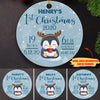Baby First Christmas - Personalized Ceramic Christmas Ornaments - 4858