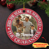 The Year We Survived The Quarantine - Personalized Ceramic Christmas Ornaments