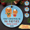 First Christmas As Brother, Sister - Personalized Ceramic Christmas Ornaments