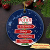 Multi Names Christmas - Personalized Ceramic Christmas Ornaments