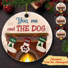 You, Me & The Dog - Personalized Ceramic Christmas Ornaments