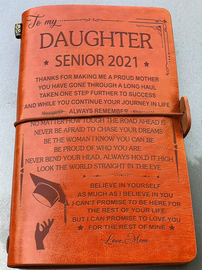 Be Proud Of Who You Are - Senior 2021 - Vintage Journal - Graduation Gifts for Daughter From Mom