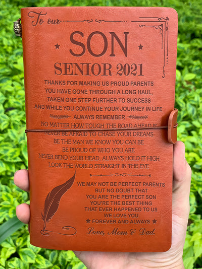 You Are Our Perfect Son - Senior 2021 - Vintage Journal - Graduation Gifts For Son From Mom And Dad