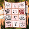 Love Blanket for Couple - All I Need Is You, Let's Grow Old Together - Couple Gifts, Anniversary Gifts - 8506