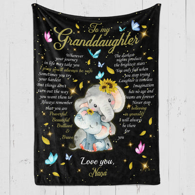GRANDDAUGHTER - NANA - ALWAYS BE SAFE - FLEECE BLANKET