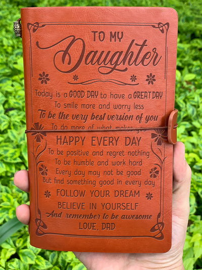 DAUGHTER DAD - BE THE BEST VERSION OF YOU - VINTAGE JOURNAL
