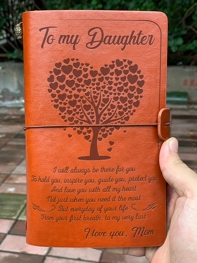 DAUGHTER - MOM - YOUR FIRST BREATH - VINTAGE JOURNAL