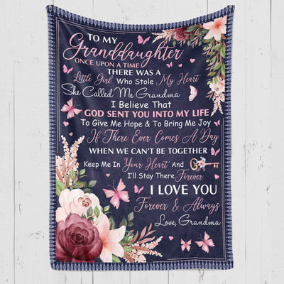 Once Upon a Time - To My Granddaughter Fleece Blanket - Birthday Gifts