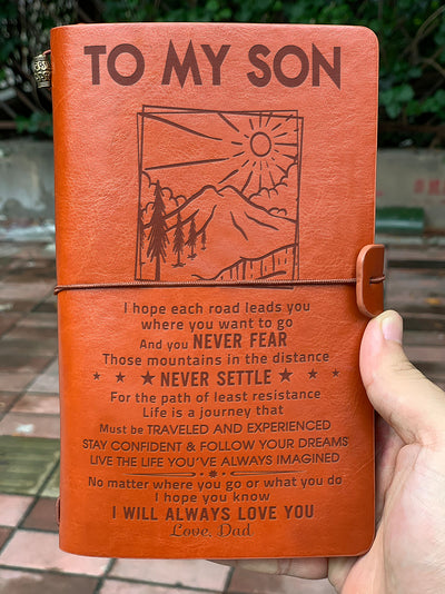 SON DAD - STAY CONFIDENT - VINTAGE JOURNAL